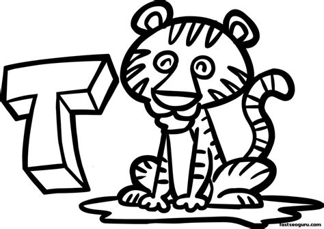 tiger t coloring page free clip art tiger cliparts co