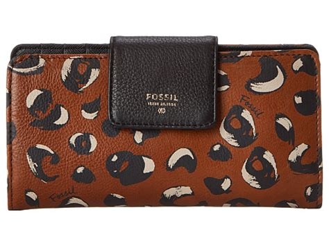 Fossil Tab Cheetah fossil sydney tab clutch cheetah zappos free shipping both ways