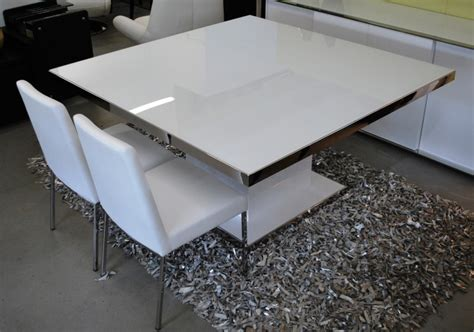 modern square glass dining table prestige modern square dining table