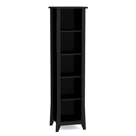 Slim Bookshelf Nexera Tuxedo Collection 60 In Slim Bookcase Black 200206