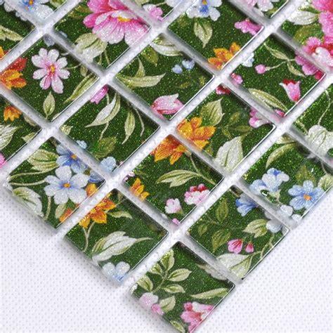 flower pattern mosaic tile puzzle mosaic wall tiles for backsplash flower pattern