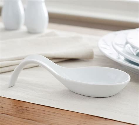 spoon holder for dining table great white spoon rest pottery barn