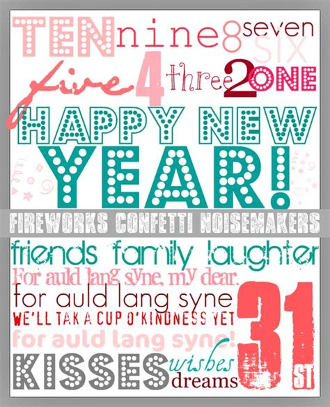 new year printable posters 10 new years prints