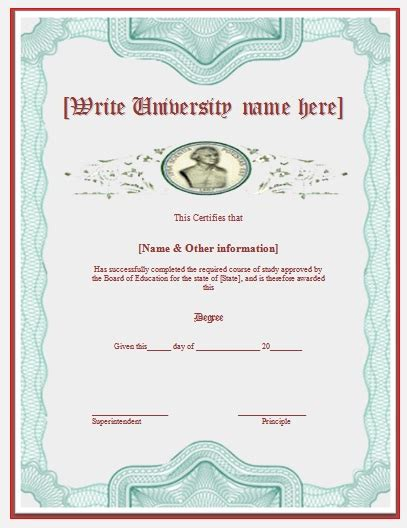 templates for degree certificates degree certificate template free word s templates