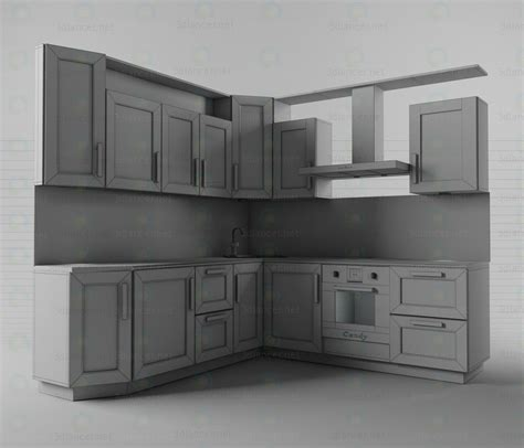 3 Kitchen Set by 3d Model Kitchen Set