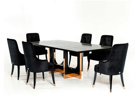 large black crocodile and rosegold dining table vg595