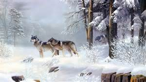 Pics Photos   Snowy Forest Wallpaper Wallpaper