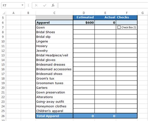 How To Use Checkboxes To Create Checklist Template In Excel Excel Business Templates And Business Check Template Excel
