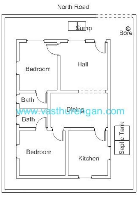 Vastu House Plan Vastu East Facing House Plan Escortsea