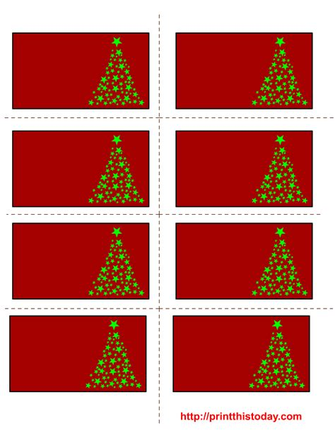 printable christmas labels  trees