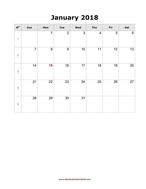 blank monthly calendar template pdf blank calendar 2018