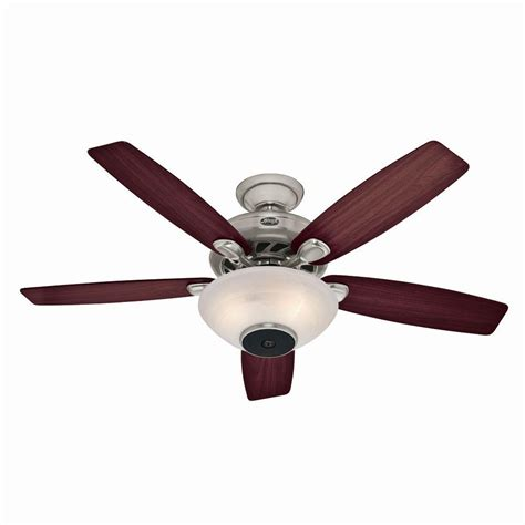 hunter douglas ceiling fans hunter concert breeze 52 in brushed nickel ceiling fan