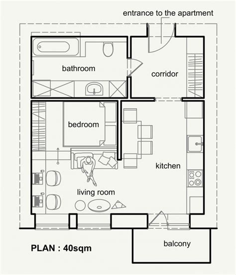 m2 to sq feet living small with style 2 beautiful small apartment plans