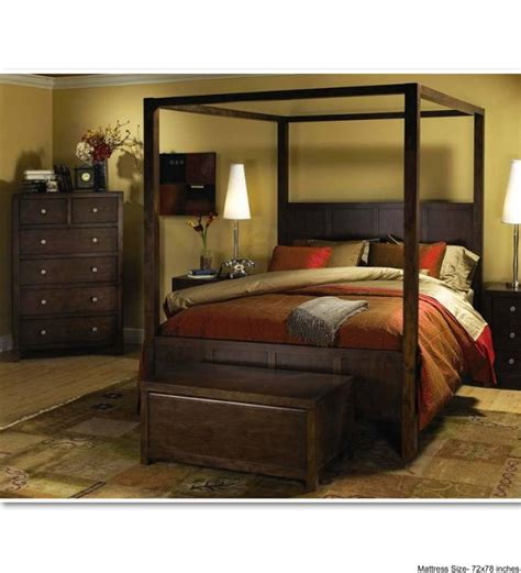 four poster king bed cayenne finely designed poster bed by mudra online
