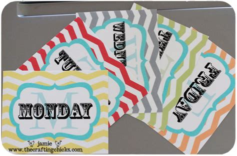 Days Of The Week Printable Cards