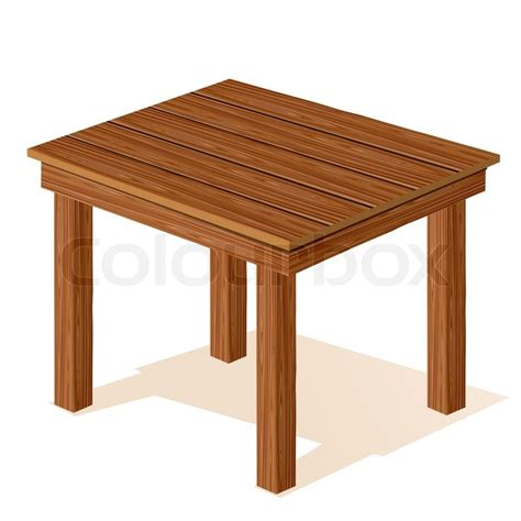 wooden table vector wooden table stock vector colourbox
