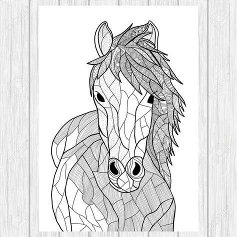 zentangle horse coloring page doodle horse horse doodle page zentangle horse animal