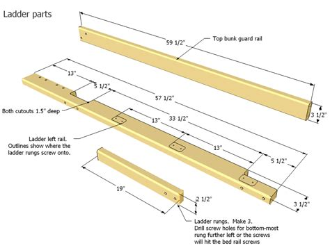 Parts Of A Bunk Bed Bunk Bed Plans