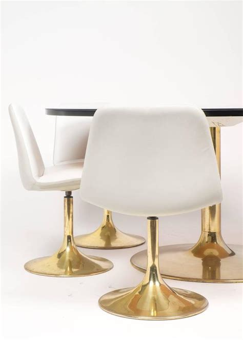 Tulip Dining Chair Tulip Table And Chair Dining Set At 1stdibs