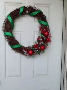 Everybody loves christmas grapevine christmas wreath ribbon wreath