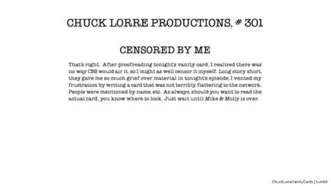Two And A Half Vanity Card by Chuck Lorre Productions