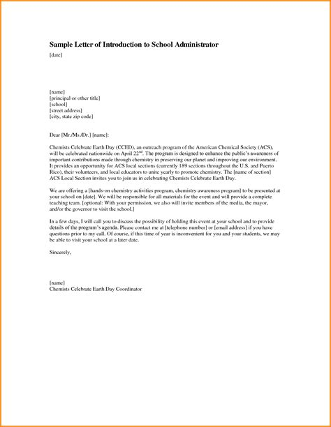 College Principal Letter Format Formal Letter For School Formal Letter Template