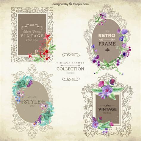 cornici ornamentali cornici ornamentali con set di fiori scaricare vettori