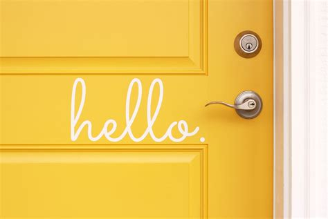 Hello Door Decal by Hello Goodbye Vinyl Door Decals