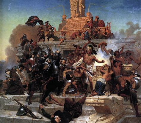 the conquest of the file leutze emanuel storming of the teocalli by cortez and his troops 1848 jpg wikimedia