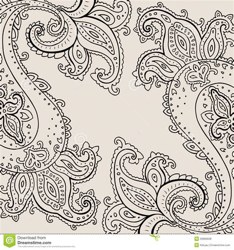 hand drawn paisley ornament royalty free stock photos