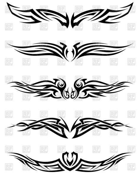 set of tribal abstract tattoos vector free download set tribal tattoos royalty free vector clip art image