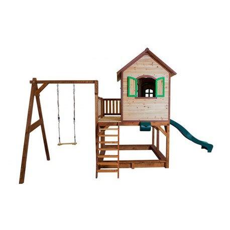 balancoire bois avec cabane cabane pour enfants en bois liam avec 1 balan 231 oire