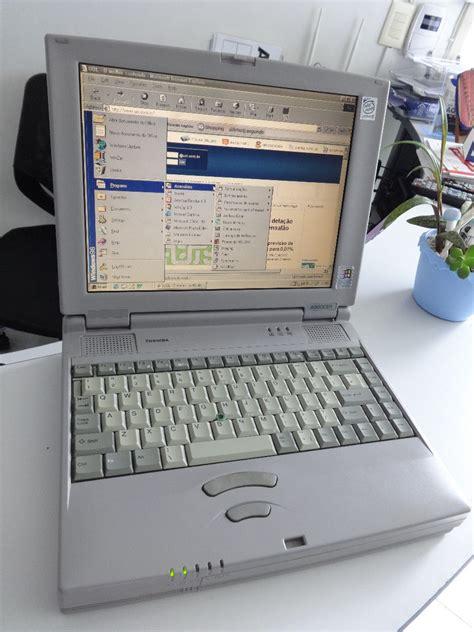 notebook antigo toshiba funcionando completo veja video