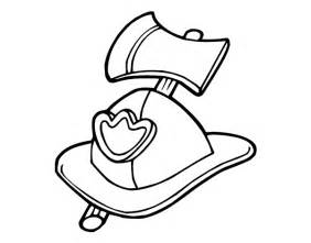 Firefighter Helmet Outline by Firefighter Helmet Coloring Page Coloring Pages