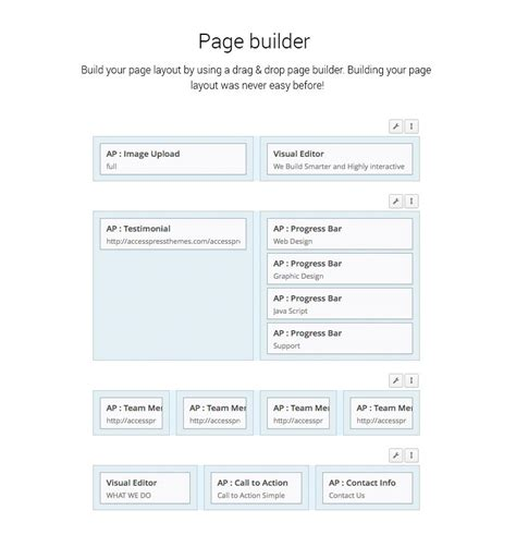 themes with page builder page builder accesspress themes