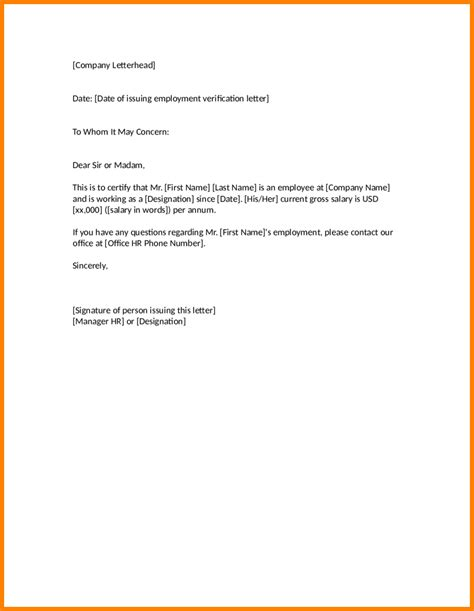Formal Letter Template To Whom It May Concern
