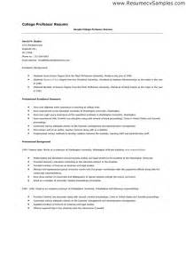 Resume Exles For College Teachers Cover Letter Adjunct Professor No Experience