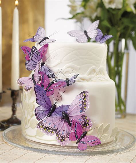 Butterfly Wedding Decorations by Purple Butterfly Butterflies Wedding Cake Decorations Ebay
