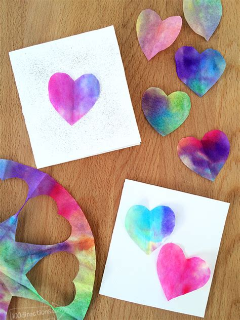 easy valentines crafts watercolor cards 100