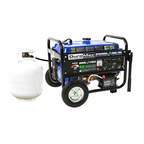 duromax xp5500eh 5 500 watt 7 5 hp gasoline propane