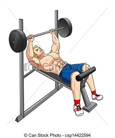 cartoon bench press stock illustration of fitness weight bench cartoon