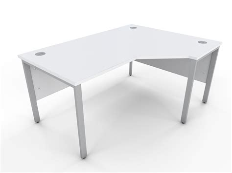 White Corner Desk Icarus Office Furniture White Corner Desk Uk