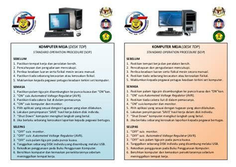 Meja Komputer Makmal sop makmal komputer 1