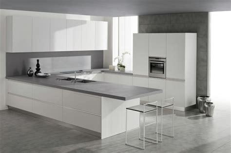 plan de travail cuisine moderne en et bois