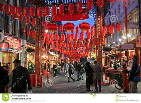 new year period in china new year in china town in editorial image