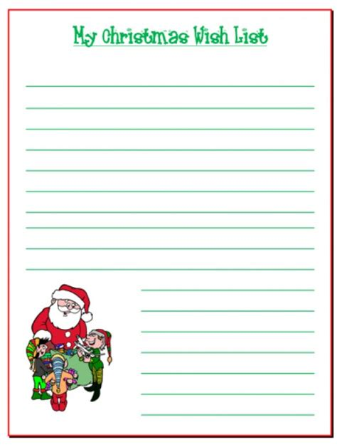 printable christmas list 5 fun free santa printables hubpages