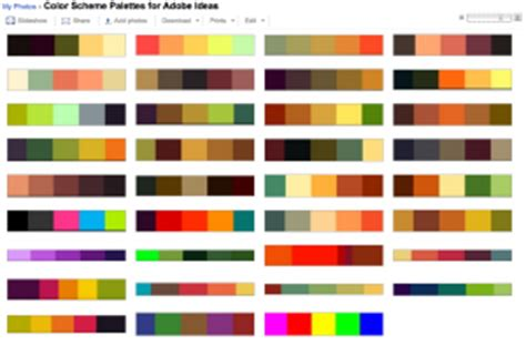 idea color schemes 35 color themes for adobe ideas djchuang com