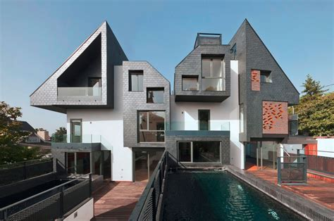 architecture photography 2 houses with 6 homes nodo17
