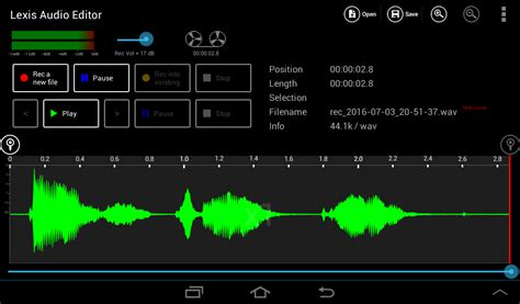 android editor normalize android lexis audio editor