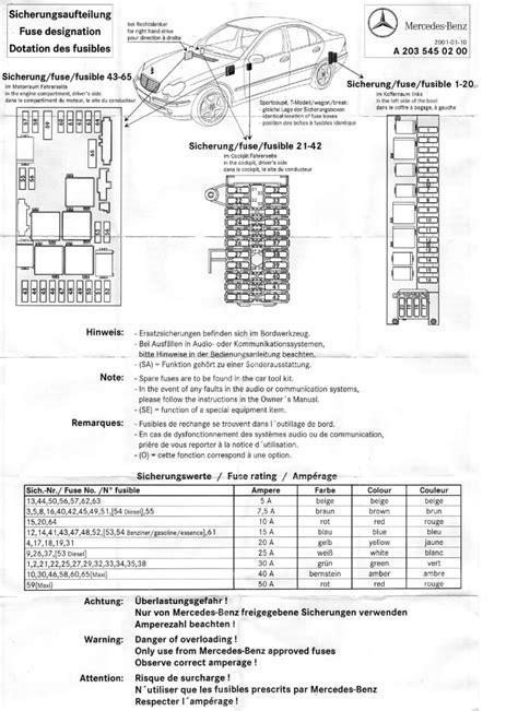 2000 Mercedes S500 Fuse Box Diagram Mercedes Wiring